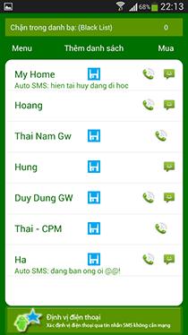 Chặn cuộc gọi và sms miễn phí