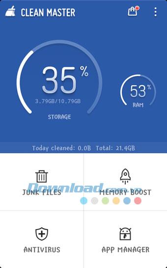 Tải Clean Master trên Ch Play Android cho điện thoại
