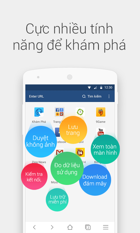 Tải UC Browser mini cho android