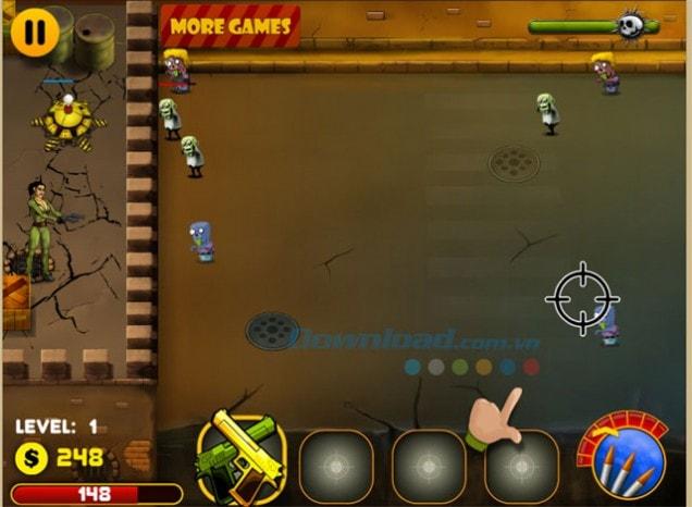 Zombies đại chiến Nora cách chơi đơn giản