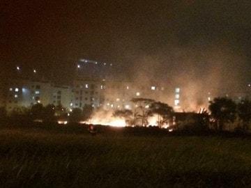 Cháy khu đô thị Việt Hưng
