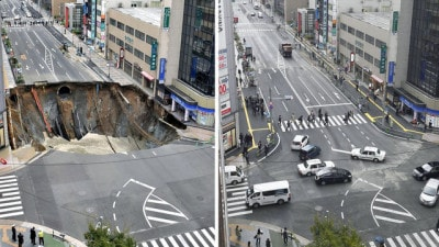 Nhật Bản sửa hố tử thần