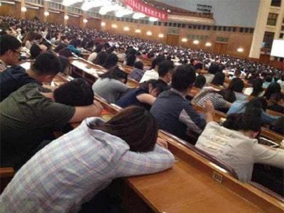 Sinh viên ngủ trong giờ học