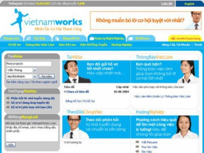 Vietnamworks bị tấn công