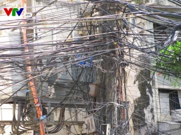 Mạng nhện dây điện tại Hà Nội