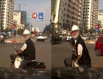 Ông già sang đường thiếu ý thức