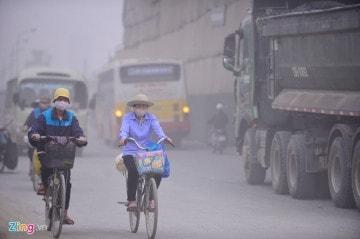 Ô nhiễm khói bụi ở Hà Nội