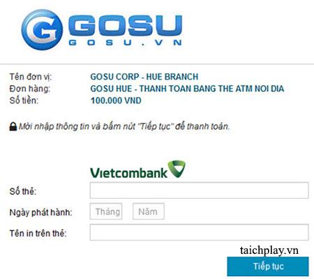 Nạp thẻ Nhất Kiếm Cửu Thiên qua ATM iBanking 03