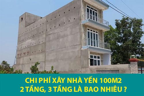 Tổng chi phí xây nhà yến 100m2 01