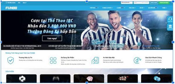 Cá cược bóng đá tại Fun88 VN Mobile 02