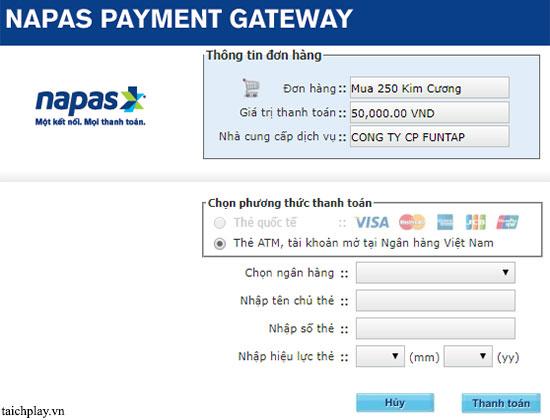 Hướng dẫn nạp thẻ Long Vũ 3D qua ATM 04
