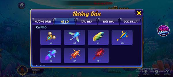 Cách chơi Bắn Cá Đại Dương cho người mới 03