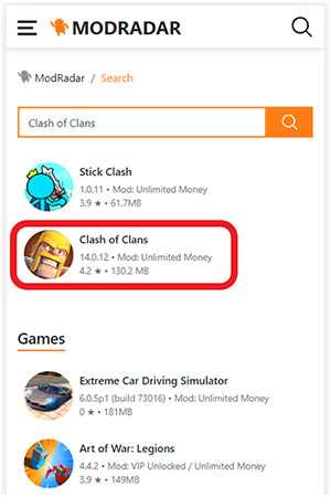 Tải Clash Of Clans Mod APK tại Modradar 03