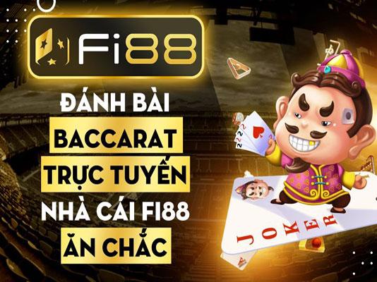 Đánh bài baccarat trực tuyến tại nhà cái Fi88 ăn chắc icon